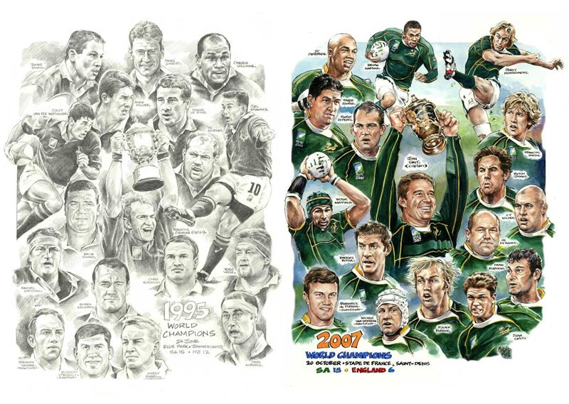 Mynderd Vosloo Rugby World Cup Champions 1995 & 2007
